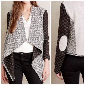 Anthropologie Luci Elbow Patch Open Cardi Jacket